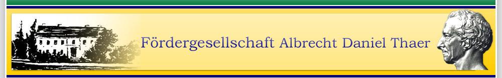 Fördergesellschaft Albrecht Daniel Thaer Möglin e.V.