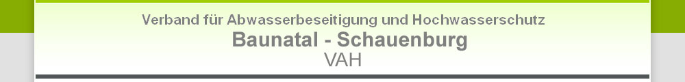 Verband für Abwasserbeseitigung und Hochwasserschutz Baunatal-Schauenburg