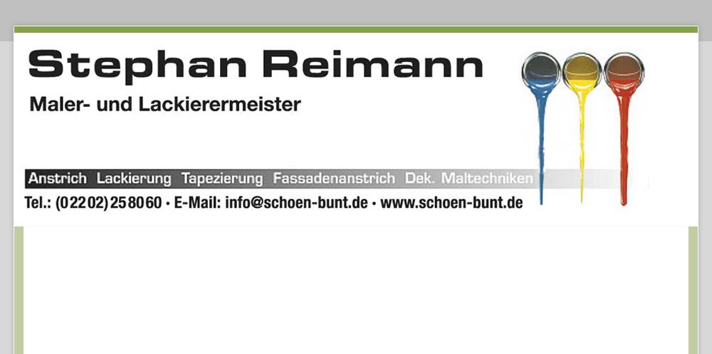 Maler und Lackierermeister Reimann