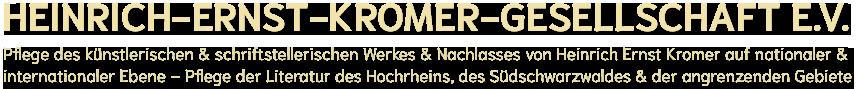 Heinrich-Ernst-Kromer Gesellschaft e.V.