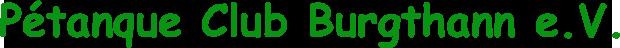 Pétanque Club Burgthann e.V.